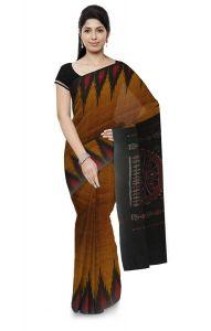 Kargil Plain Cotton Kumbha Women's Saree Without blouse piece - Green