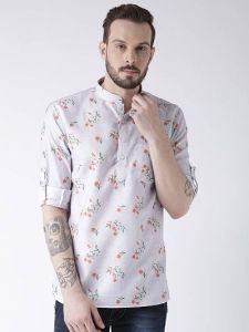 Trending Cotton Blend Printed Casual Kurta For Men's (Multi-Color) (Pack of 1)