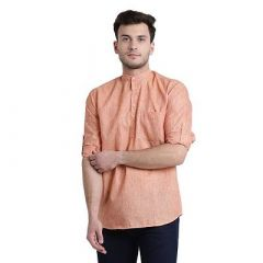 Solid Cotton Stylish Short Length and Full Sleeves Kurta Shirt For Men's (Pack of 1)