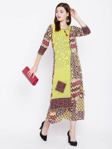 3|S Sleeveless, Rayon Fabric Stitched Kurta for Womens (Multicolor)