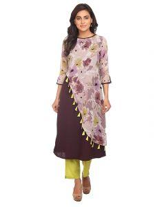 Sunsim Fashion Comfortable and Regular Rayon Printed 3/4th Sleeve Casual Kurtis For Womens (Multi-Color)