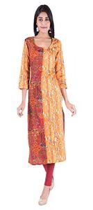 SUNSIM FASHION Rayon Solid 3/4th Sleeve Casual Kurtis For Women's (Multi-Color) (Pack of 1)