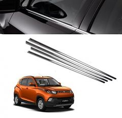After Cars Mahindra KUV 100 Car Window Lower Chrome Garnish