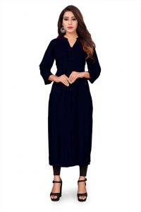 Women Solid Poly Crepe Straight Kurti (Pack of 1)