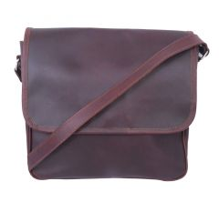 Celtic Buff Crazy Laether Messenger Bag (Leather Brown) | Pack of 1