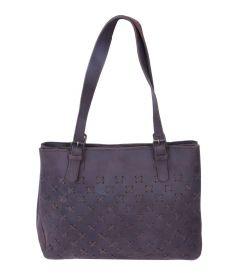 Celtic Buff Crazy Leather Shoulder Bag (Blue) | Pack of 1