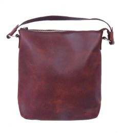 Celtic Buff Crazy Leather Hobo Bag (Leather Brown) | Pack of 1