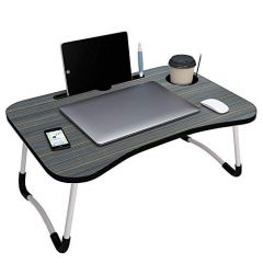 Laptop Table Portable  Foldable Adjustable Multifunction Study Lapdesk Table for Breakfast Bed Tray Office Work Gaming Watching Movie on Bed|Couch|Sofa|Floor with Cup Slot-Laptop-Table