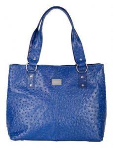 ASPENLEATHER Blue Genuine Leather Shoulder Bag