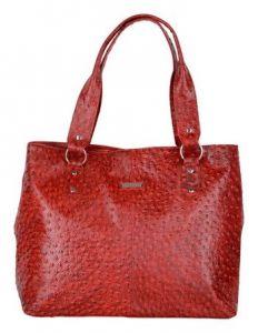 Splash USA Red Genuine Leather Shoulder Bag