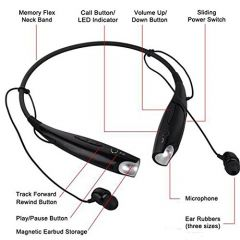 Universal Bluetooth Neckband With Vibration For Music And call (Pack of 1)