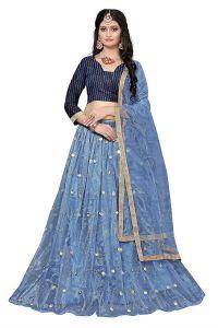 Fashionable and Wedding Wear Net Semi Stitched Lehenga Choli For Women's