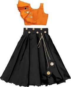 Shrungar Dresses Embroidered Lehenga Choli Ethnic Wear for Girls (Multicolor) (Pack of 1)
