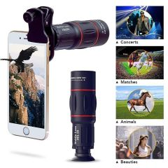 DSLR Background Blur Monocular Telescope 18X Zoom With Tripod Stand And Mobile Camera Clip For All Mobile Phones