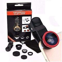 Universal Clip Lens 3 in 1 Mobile Phone Camera Lens Kit 180 Degree Fisheye Lens For All Latest Android Smartphones