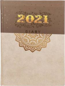 Toss Lord Ganesha 2 dated 2021 B5 Diary Ruled 165 Pages (Multicolor) (Pack Of 1)