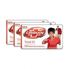 Lifebuoy Total 10 It Gives Freshness & Protection from Germs Soap Bar (3x100gm) | (Pack of 3)