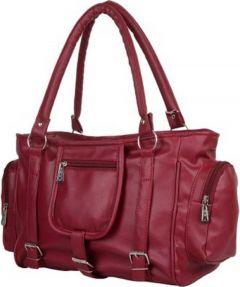 Shopchoice Eye-Catching Design, Lightweight & Durable Women Hand-held Bag (Maroon)