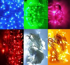 HomeJoy Upgraded Led Decorative Lighting Red, Green, Blue, Golden, White and Pink for All Festival Occasion (Set Of 6)