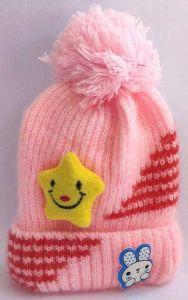 Livster Solid Woolen Warm Fleece Inside Cap Cute Caps for Kids (Pink)