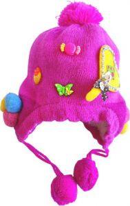 Livster Solid Baby Girl & Boy Kids 1-2 Years Winter Woolen Warm Cap (Pink)