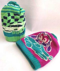 Livster Printed Woolen Warm Cap for Baby Boys & Girls Cap (Pack of 2)