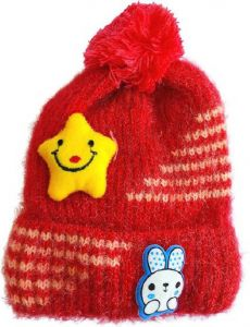 Livster Solid Baby Boys and Baby Girls Woolen Cap (Size: XXS)