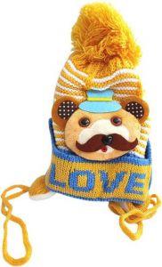 Livster Self Design Winter Woolen Warm Cap for Kids (Multicolor)