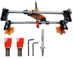 THS Professional Locksmith Woodworking Door Lock Mortiser Kit Hole Saw Opener Installation Mortising Jig Tool Maintenance Set (Pack of 1)