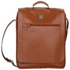 ASPENLEATHER Designer Tan Genuine Leather Laptop Bag For Men