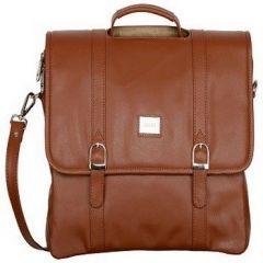 ASPENLEATHER Stylish Genuine Leather Laptop Bag  For Men (Tan)