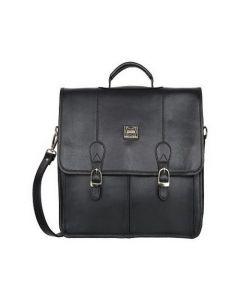 ASPENLEATHER Black Genuine Leather Laptop Bag For Men