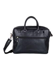 ASPENLEATHER Designer Genuine Leather Laptop Bag Stylish For Men (Black)