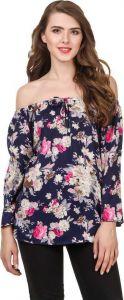 Marchod Casual 3/4 Sleeve Printed Women Multicolor Top