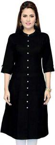 Women Solid Pure Cotton Ethnic Dress