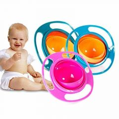 Plastic Universal Spill Proof No Mess Gyroscopic Smooth, Gyro Magic Bowl 360 Degrees Rotation With Highly Durable Material For Baby (Pack Of 1)