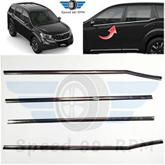 Speed 99~RPM Chrome Stainless Steel Lower Window Garnish Compatible With Mahindra XUV 500 Set Of 4 Pcs Exterior Accessories