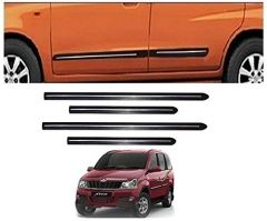 After Cars Mahindra Xylo Car Black Side Beading with Chrome Line Set of 4