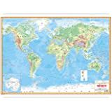 HarshitShop World Map Political Laminated Both Sides And Double Tape For Easy Use