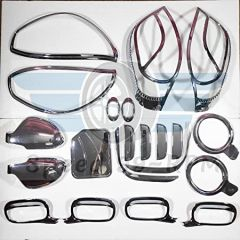 Speed 99~RPM Chrome Combo Smart Full Kit Compatible whit Maruti Alto K10 Complete Kit Of 21 Pcs 9 Items Exterior Accessories Extra Premium