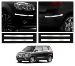 After Cars Maruti Suzuki Wagon R 2020 Steel Chrome Bumper Protector Guard (Set of - 4)