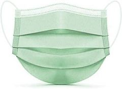 PALOMINO Water Resistant Surgical Mask With Melt Blown Fabric 4 Layer (Green) (Pack of 25)