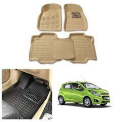 After Cars Cream Carpet Floor/Foot 4D, Mats for Chevrolet Beat