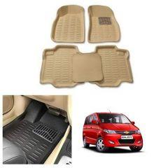 After Cars Cream Carpet Floor/Foot 4D, Mats for Chevrolet Enjoy