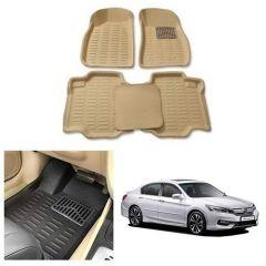 After Cars Cream Carpet Floor/Foot 4D, Mats for Honda Accord