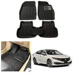 After Cars Black Carpet Floor/Foot 4D, Mats for Honda Civic 2019