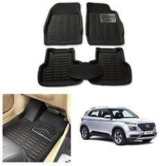 After Cars Black Carpet Floor/Foot 4D, Mats,for Hyundai Venue
