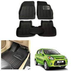 After Cars Black Carpet Floor/Foot 4D, Mats for Maruri Suzuki Alto 800 Type 2