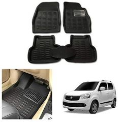 After Cars Black Carpet Floor/Foot 4D, Mats for Maruti Suzuki Wagon R 2007