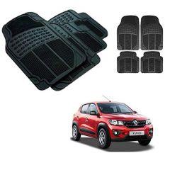After Cars Black Carpet Floor/Foot 4D Rubber Mats for Renault Kwid Car